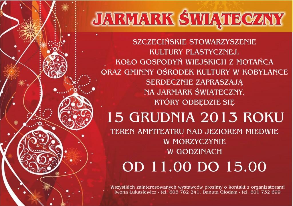 plakat JARMARK ŚWIĄTECZNY