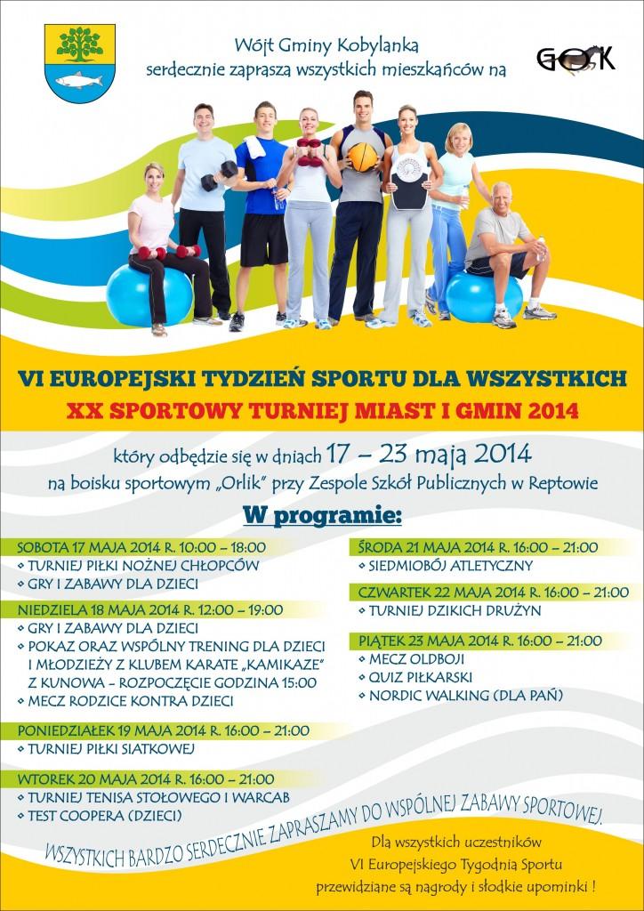 Plakat Europejski Tydzień Sportu