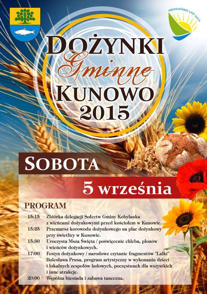 Plakat A3 Dożynki Gminne Kunowo 2015