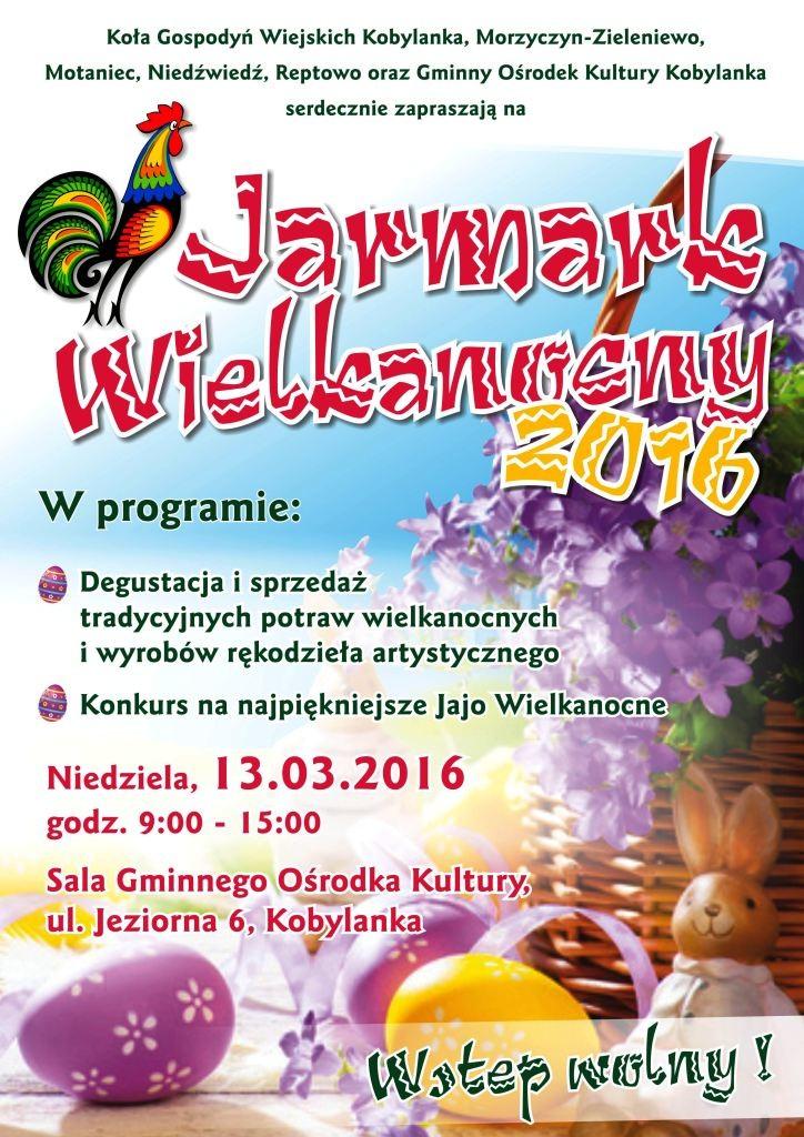 Plakat A3 Jarmark Wielkanocny 2016