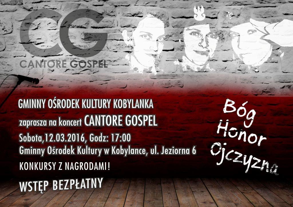 Plakat A3 Koncert Cantore Gospel