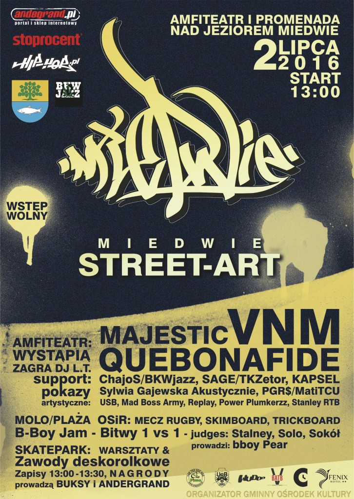 plakat miedwie street art officialny