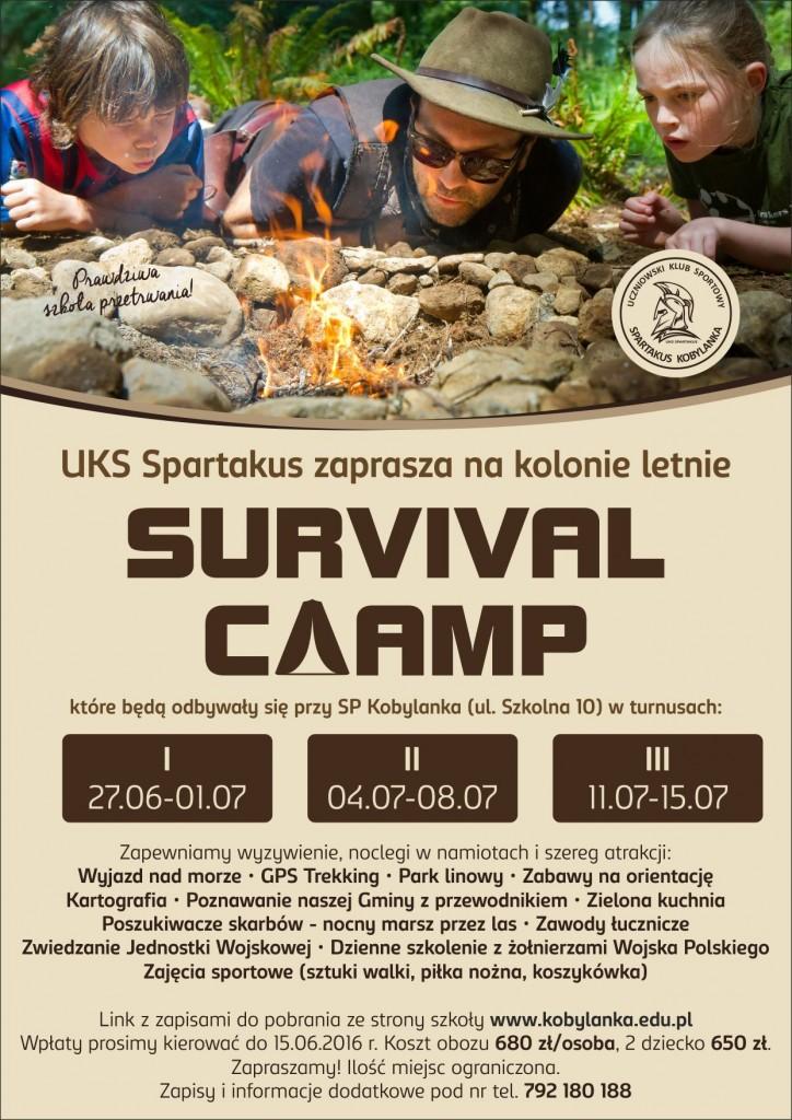 survival camp  plakat